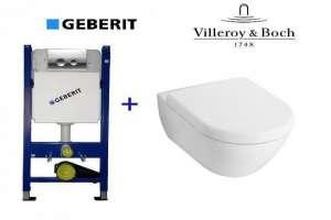56001001 Унитаз подвесной SUBWAY 2.0 с крышкой Soft Close + Комплект  GEBERIT 4-в-1 458.161.21.1