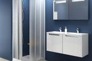 Душевая дверь  RAVAK ASRV3-80 белый+pearl